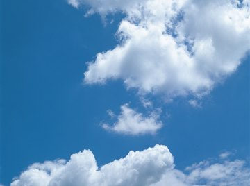 Explore the science of cloud formations with cotton balls.