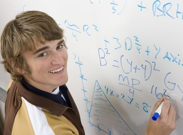 Image of a student in algebra class.