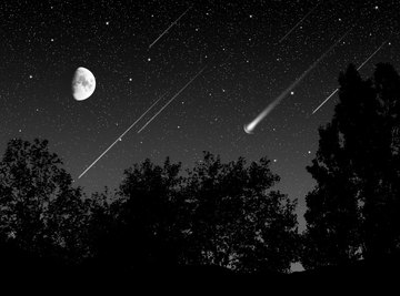 Shooting stars are a spectacular sight.