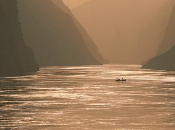 The waters of the Yangtze River are being diverted north to the Yellow River.