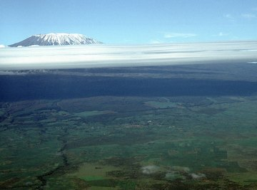 Mt. Kilimanjaro lies in the Great Rift Valley.