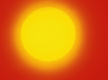 Nuclear reactions in the sun's core cause it to shine brilliantly.