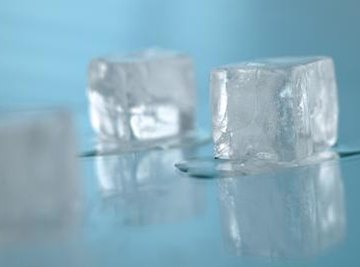 Ice cubes start to melt above 32 F.