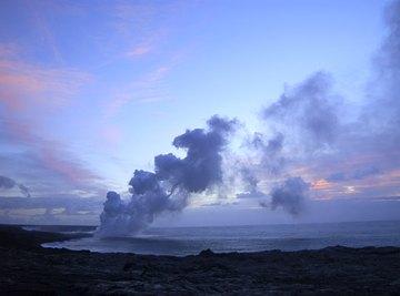 Hawaiian eruptions are among the least destructive types.