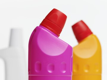 Household cleaning products containing bleach are basic substances.