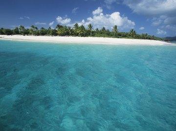 Tropical ocean and beach.