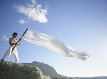 A flag is useful for gauging the speed of light to breezy winds.