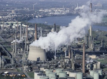 Industry can be a source of several different kinds of pollution.