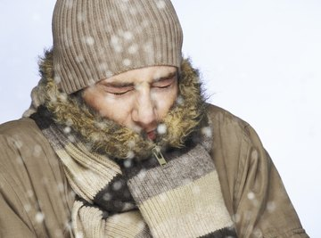 On really cold days, your breath can turn into ice.