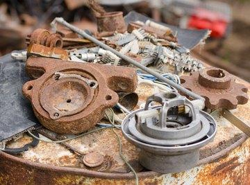 A pile of scrap metal.