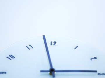 Rounding is used in reading a clock when the time is almost on the hour.