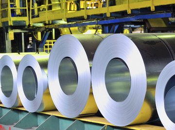 Large rolls of steel