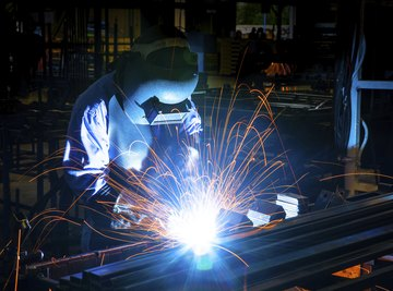 Welding is a technique that fuses two pieces of metal together.