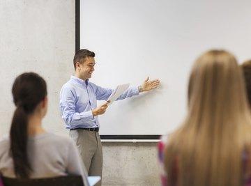 Student giving a persuasive speech