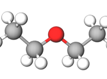 Ball-and-stick model of diethyl ether