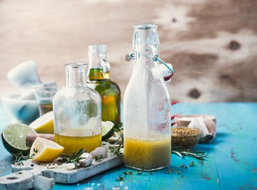 The ingredient that gives many drinks, dressings and sauces their distinctive
