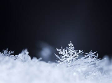 The hydrogen bond accounts for the shape of snowflakes.