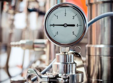 The pressure a gas exerts comes from the motion of its molecules.