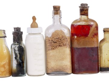 Milk and vinegar are common items used in science fair projects.