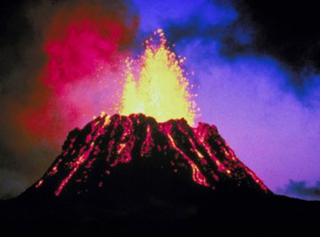 Mt. Kilaeua erupts in Hawaii.