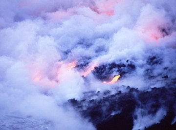 Volcanic hot-spots are locations where asthenospheric magma reaches the surface, such as here in Iceland.