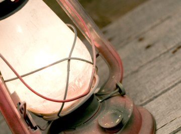 In the 1800s, people used oil and natural gas to light their lamps