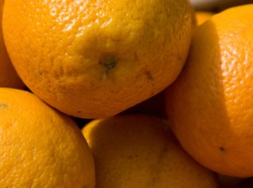 An orange can be used to generate an electrical current.