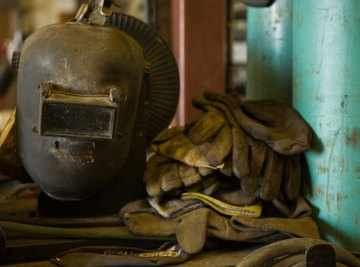 Welders require protective equipment to keep the heat from burning their skin or damaging their eyes.