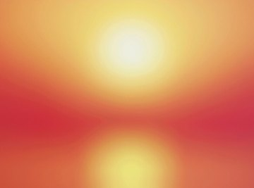 The sun warms the Earth with heat radiation.