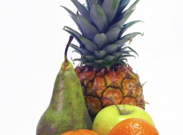 Different fruits have different acid levels.