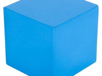 A cube is a 3-dimensional shape.