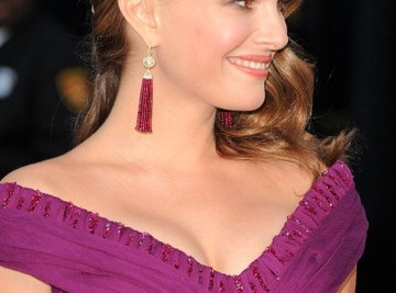 Actress Natalie Portman wore pink tourmaline earrings to the 2011 Academy Awards ceremony.