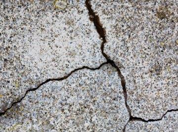 Weathering gradually breaks down rocks.