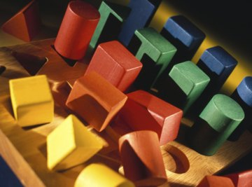 Some children's toys are shaped like rectangular prisms.