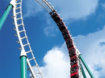 Roller coasters used to be made of wood.