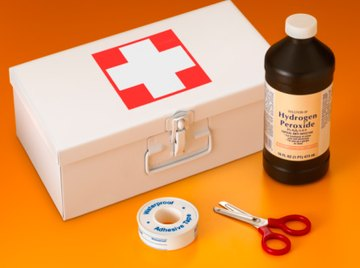 Well-stocked first-aid kits include hydrogen peroxide.