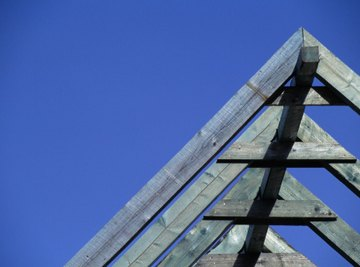 You can use trigonometry to find an angle of a roof.