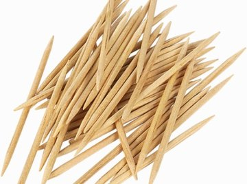 Substitute any soft or gummy substance to connect your toothpicks.
