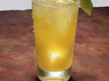 Salt, such as in this margarita, affects the speed with which ice cubes melt.
