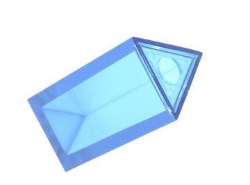 Triangular prisms have three rectangular sides.