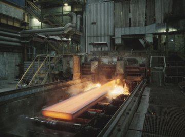 Steel is alloyed with the desired element in the foundry.