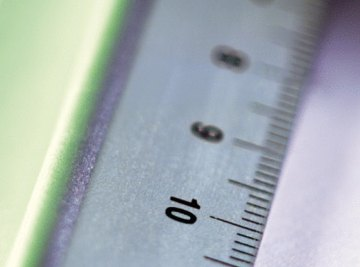 Learning the basics of the metric system will help you measure in millimeters, centimeters and meters.