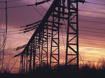 Power lines carry electricity.