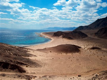 The Red Sea is an example of a mature rift valley, located between the Arabian Plate and African (Nubian) Plate.