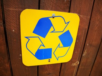 There are an abundance of recycled materials that can be used to create science projects.