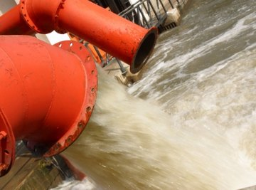 A heavy flow may carry several gallons each second.