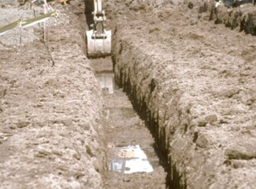 Calculate the area of a trench using simple mathematics.