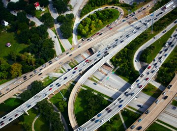 Transportation engineers use delta angles to optimize traffic flow designs.