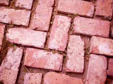 The use of jointing sand in between these bricks would have prevented the weeds from springing up.