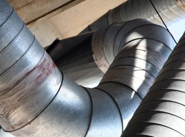Air ducts deliver air and heating to various rooms in houses and buildings.